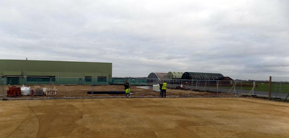 New hanger at Duxford Aerodrome
